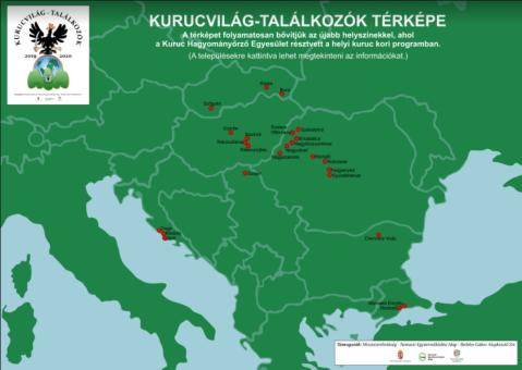 Kurucvilág-találkozók térképe